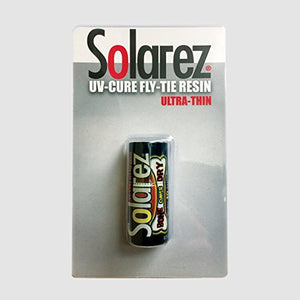 SOLAREZ Bone Dry Fly Tie UV Cure Resin - Ultra Thin Bone Dry Formula (0.5 oz Bottle w/Brush applicator tip) Fly Tying, Fly Fishing, Build Fly Heads and Bodies