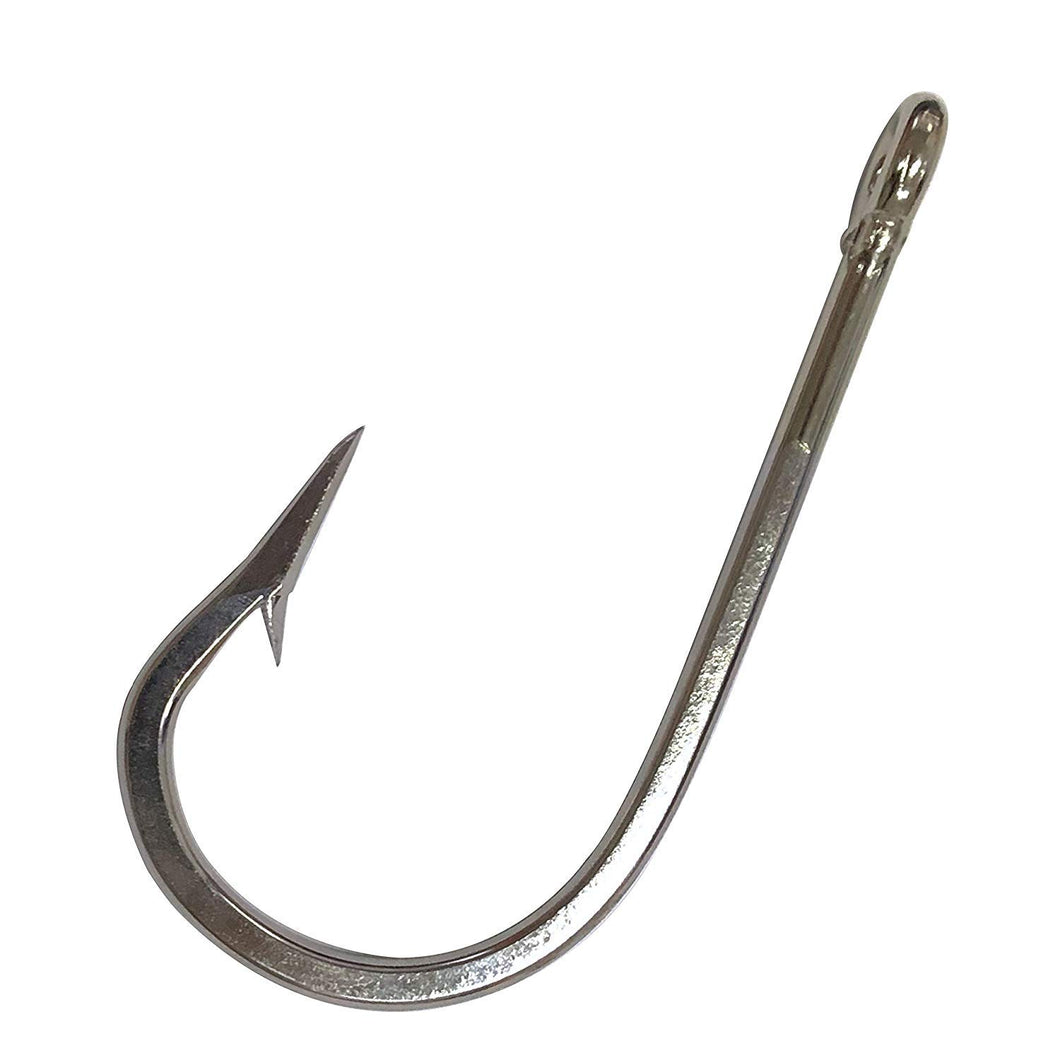 AGOOL 15pcs Southern Tuna Hooks Big Game Hook 7691 Extra 6X Strong Circle Hooks Ultra Sharp Cutting Edges Stainless Steel Heavy Duty Forged Fish Hook Saltwater Size 3/0-12/0