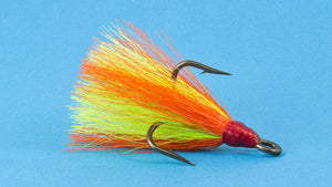 (24) Fire Tiger  Dressed Treble Hooks Size #1/0 Fishing Lures Tackle