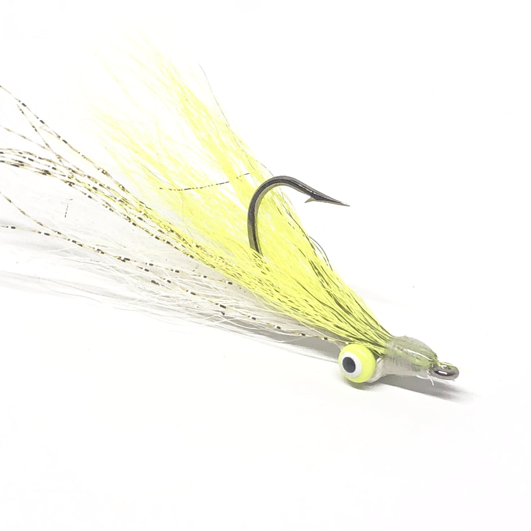 Chartreuse Slayer Clouser Minnow 99 Cent Flies