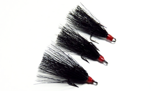 Black Dressed Replacement Treble Hooks (3 pack)