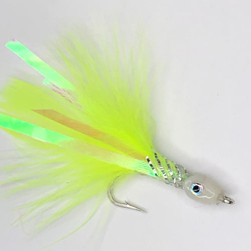 Chartreuse Marabou Teaser Fly Size 1/0