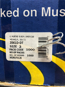 50ct Muatad 3561D-DTTreble  Hook Saltwater Hooks - Exclusive Group Offer