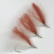 Brown Flasher Baitfish Fly Set
