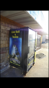 USED 24 Hour Live Bait and Tackle Vending Machine
