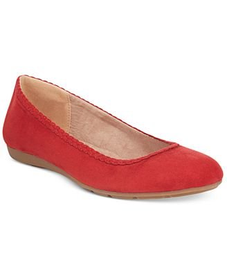 Style CO Ciara Hidden-Wedge Flats Red 7.5M