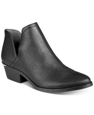 Bar III Terra Cutout Block-Heel Booties