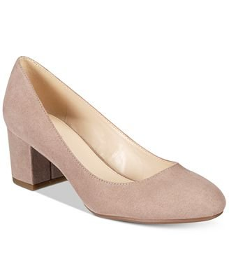 Bar III Petunia Block-Heel Pumps Grey 5.5M