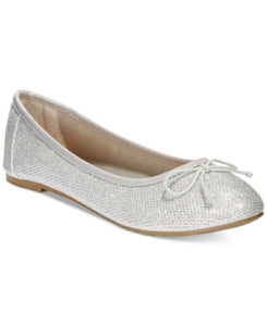 Report Marlee Sparkle Ballet Flats Women's Shoes Silver 6.5