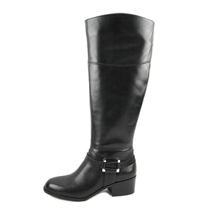 Alfani Womens Biliee Leather Round Toe Knee High Fashion Boots