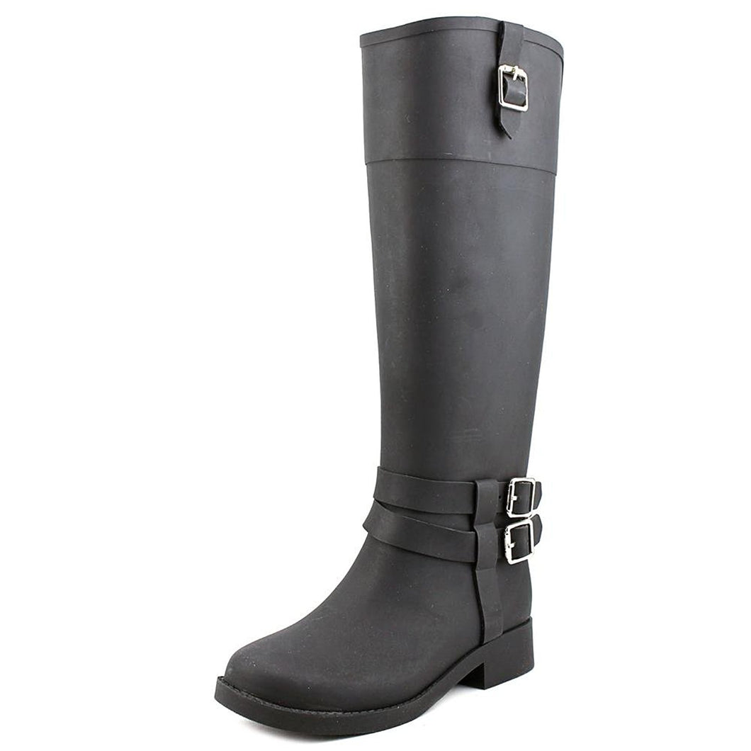 INC International Concepts federica Women Round Toe Synthetic Black Rain Boot