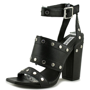 Steve Madden Womens Jansen Leather Open Toe Casual Ankle Strap Sandals