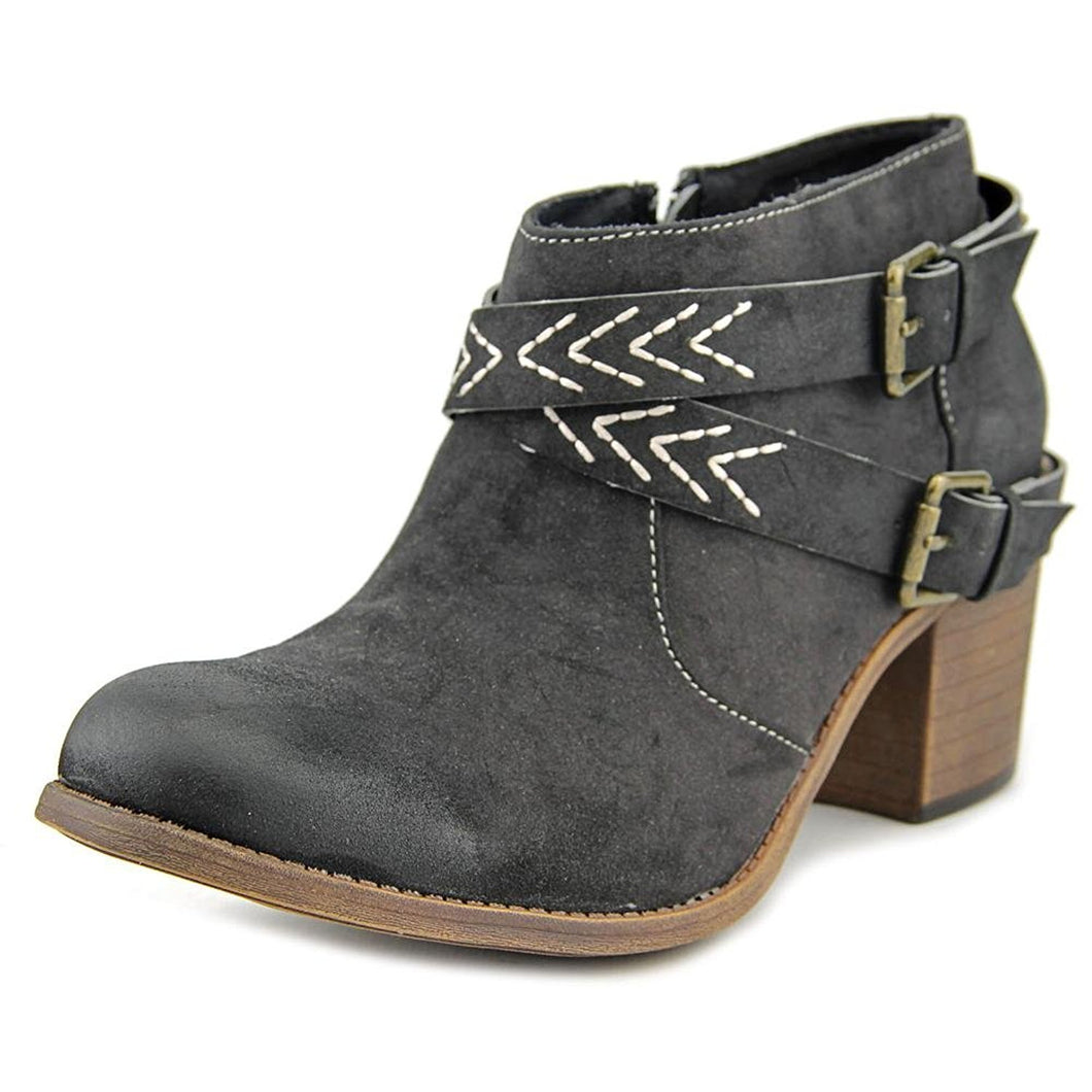 Roxy Janis Women Fashion Bootie Black Size 6.5 M US