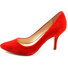 INC International Concepts Womens ZITAH Pointed Toe Leather Classic Pumps, Red, Size 7.5