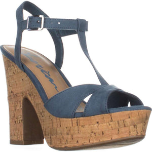 American Rag Womens Jamie1 Fabric Open Toe Special Occasion Platform Sandals