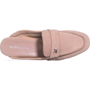 BCBGeneration Womens Sabrina Suede Almond Toe Mules