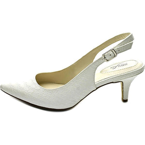 Alfani Womens Babbsy Pointed Toe Slingback Classic Pumps