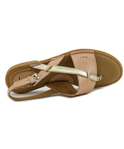 B.O.C. Womens Lowery Leather Split Toe Casual Slingback Sandals