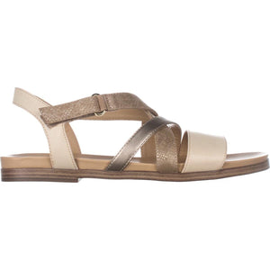 Naturalizer Womens Kandy Open Toe Casual Ankle Strap Sandals, Beige, Size 6.0