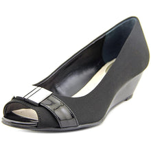 Alfani Chorde Women US 5.5 Black Peep Toe Wedge Heel