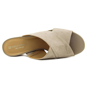 Naturalizer Arielle Women US 7 W Gray Slides Sandal