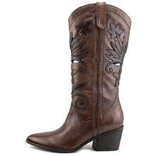 Carlos by Carlo Santana Womens Ace Leather Closed Toe Mid-Calf Cowboy Boots