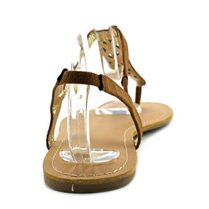 Material Girl Womens Skyler Open Toe Casual T-Strap Sandals