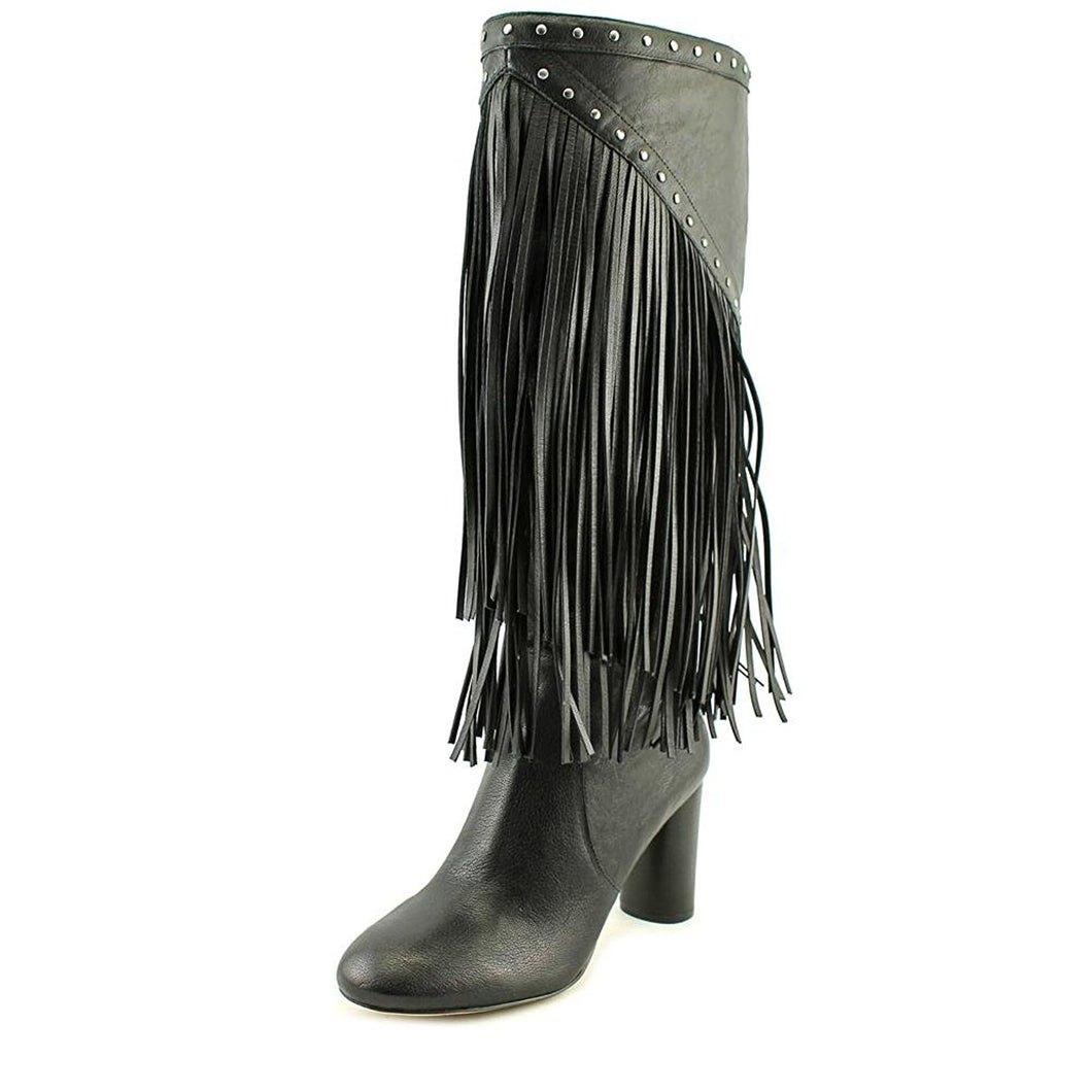 INC International Concepts Tolla Round Toe Leather Knee High Boot