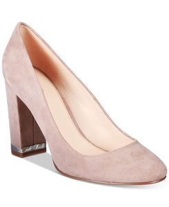 Bar III Selena Block-Heel Pumps Grey 5M