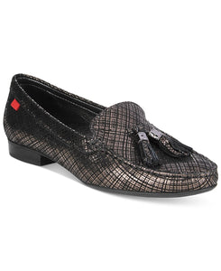 Marc Joseph New York Wall Street Chain-Detail Flats Black Metallic 6.5M