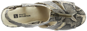 White Mountain Women's Dharma Wedge Sandal 10 M US