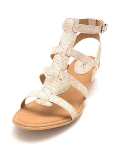 Born Womens Heidi Open Toe Casual Platform Sandals, Cream, Size 10.0