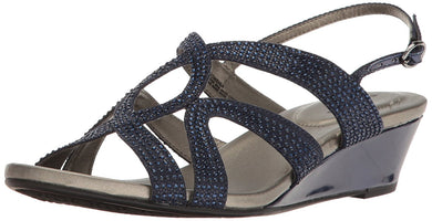 Bandolino Women's Gomeisa Fashionable Wedge Sandal Navy 10 M US