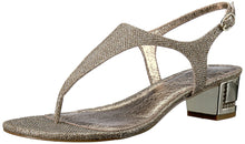 Adrianna Papell Cassidy Stylish Heel Sandal for Women - Boss Lady Shop Fashionable and Stylish women's Heeled Sandal for Party . Any Occasion You can choose this sandal. Leather Glitter mesh thong sandal.  Its will make you free, positive and comfort.  Low high sandal for outside and home .
