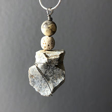 Diffuser Pendant with African Opal, Arrowhead and Lava Rock
