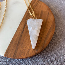 Crystal Quartz Druzy Pendant Necklace