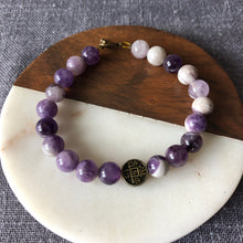 Dogtooth Amethyst Bracelet with Feng Shui Lucky Charm