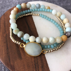 Amazonite Wrap Bracelet with Accent Beads