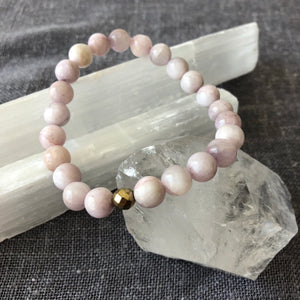 'Love' Lilac Kunzite with Hematite Accent