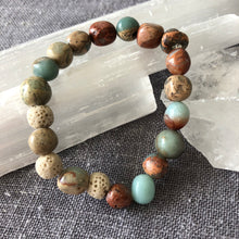 Diffuser Bracelet with Impression Jasper and Lava Rock