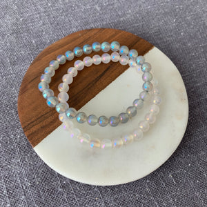 Luster Opalite Bracelet {white or gray}