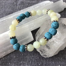 Diffuser Bracelet with New Jade and Lava Rock