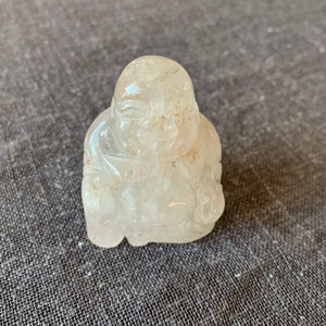 Handcarved Crystal Quartz Buddha