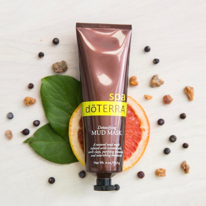 doTERRA SPA Detoxifying Mud Mask made with Essential Oils
