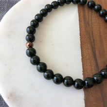 Handmade Green Goldstone Bracelet with Hematite Accent Healing Crystals