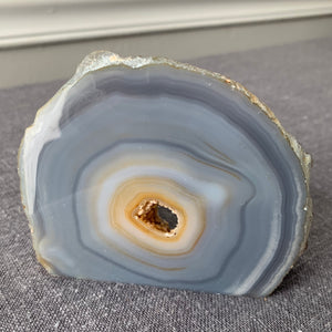 Freestanding Agate Slice {one side polished, one side raw}