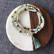 Amazonite Wrap Bracelet with Tassel
