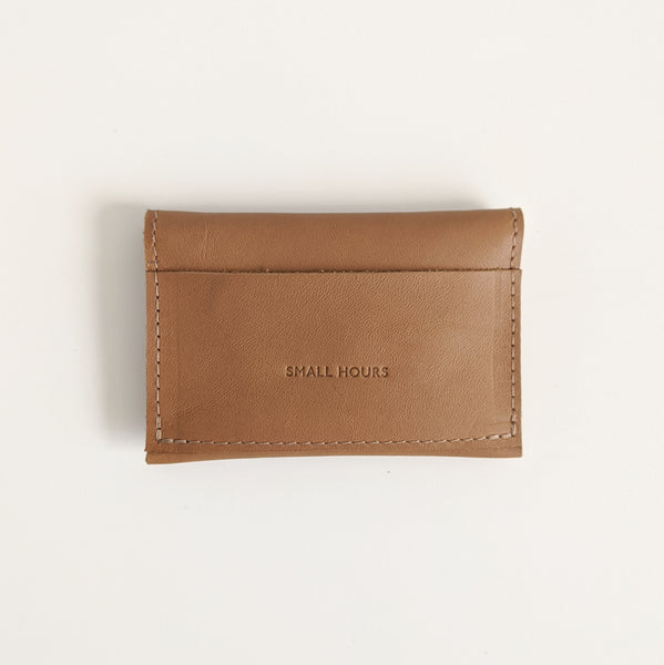 Double Snap 3-pocket Wallet, Tan Brown