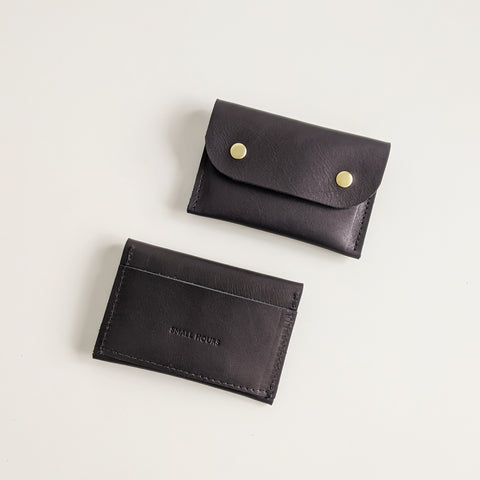 Double Snap 3-pocket Wallet, Black