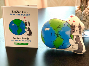 Book & Pillow Bundle: ZeeZee Can Save the Planet | ZeeZee Puede Salvar el Planeta